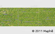 Satellite Panoramic Map of Clinton County