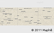 Shaded Relief Panoramic Map of Clinton County