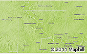 Physical 3D Map of Platte County