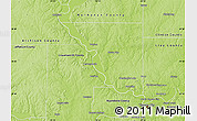 Physical Map of Platte County