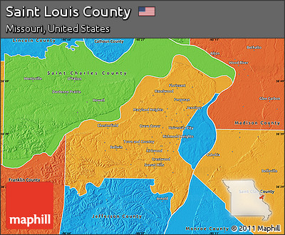 Free Political Map Of Saint Louis County - Saint louis on the us map