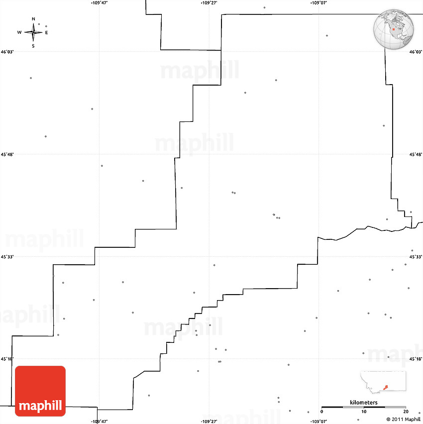Blank Simple Map Of Stillwater County No Labels - Us map no labels