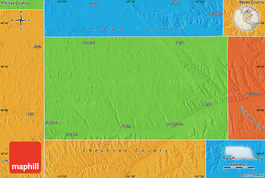 Political Map of Dundy County