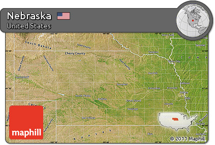 Free Nebraska Map.Free Satellite Map Of Nebraska