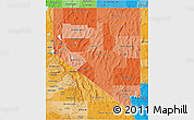 Political Shades 3D Map of Nevada