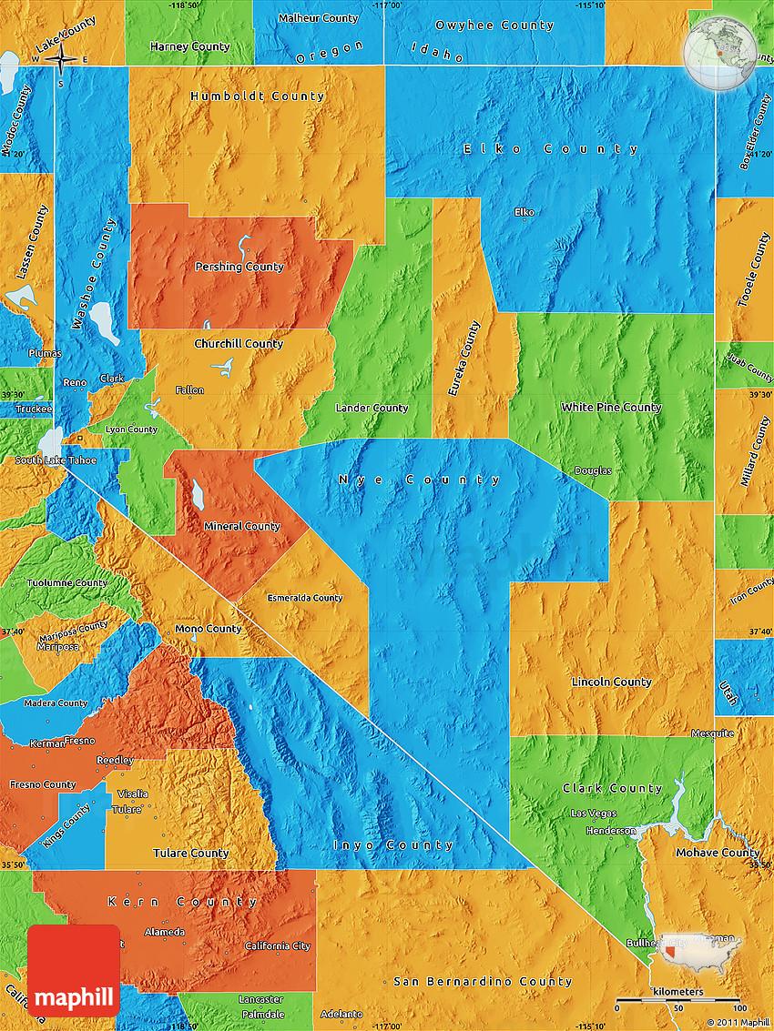 31 Cool Nevada Political Map Bnhspine Com