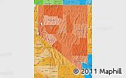Political Shades Map of Nevada