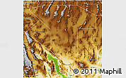 Physical 3D Map of Nye County