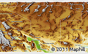 Physical Panoramic Map of Nye County