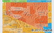 Political Shades Panoramic Map of Nevada