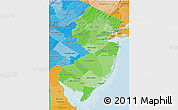 Political Shades 3D Map of New Jersey