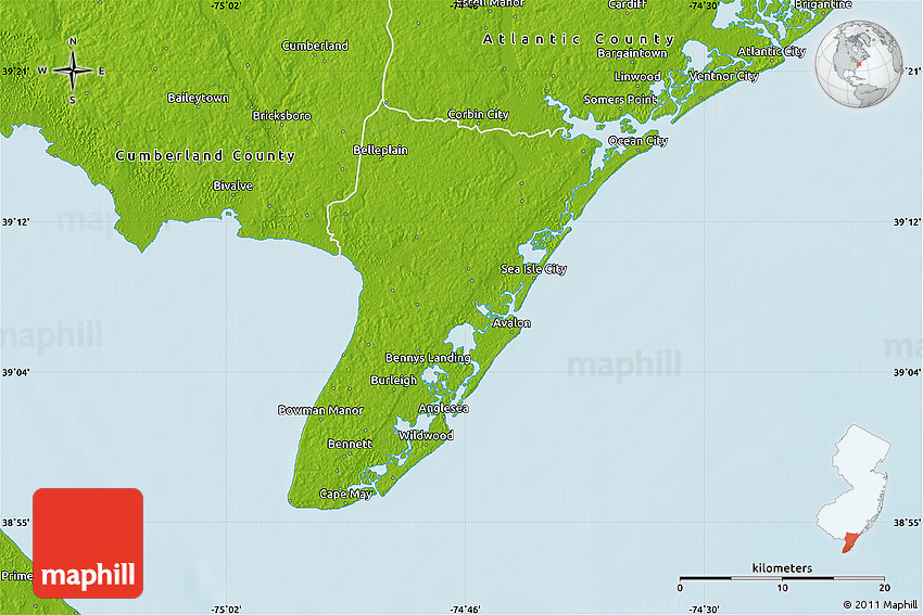 Physical Map of Cape May County on rehoboth beach, jersey shore, long branch, ocean county, cape may lighthouse, town of cape may map, mercer county, leonia new jersey map, cape may beach map, atlantic city, cape may tourist map, cape may county, cape may county herald, town bank cape may map, cape may downtown map, cape may city map, southern new jersey map, stone harbor, sea isle city, delaware bay, south jersey, asbury park, rio grande, belmar new jersey map, cape may street map, cumberland county new jersey map, cape may diamonds, cape may sound, ocean city, lawrence township new jersey map, strathmere new jersey map, allentown new jersey map, cape may national wildlife refuge map, cape may county map, cape may nj,