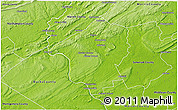 Physical 3D Map of Hunterdon County
