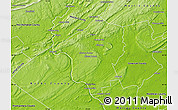 Physical Map of Hunterdon County