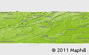Physical Panoramic Map of Hunterdon County
