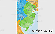 Political Shades Map of New Jersey