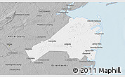Gray 3D Map of Monmouth County