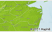 Physical 3D Map of Monmouth County