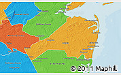 Political 3D Map of Monmouth County