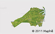 Satellite 3D Map of Monmouth County, cropped outside