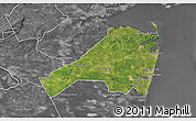 Satellite 3D Map of Monmouth County, desaturated