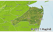 Satellite 3D Map of Monmouth County, physical outside