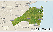 Satellite 3D Map of Monmouth County, shaded relief outside