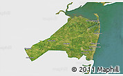 Satellite 3D Map of Monmouth County, single color outside