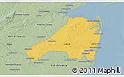 Savanna Style 3D Map of Monmouth County