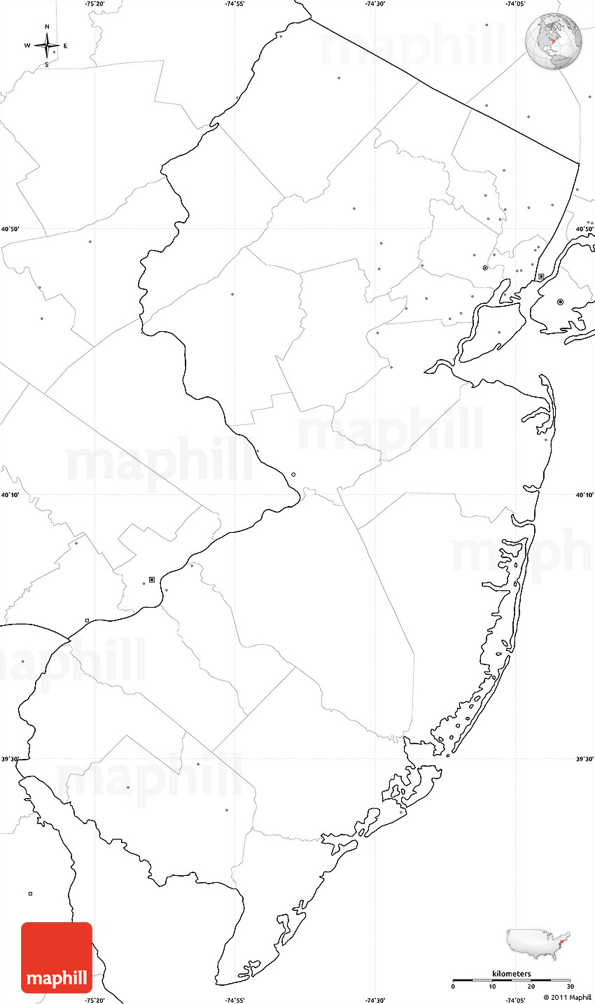 blank new jersey map choice image