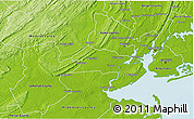 Physical 3D Map of Union County