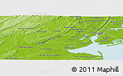 Physical Panoramic Map of Union County