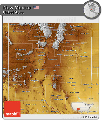 Free New Mexico Map.Free Physical 3d Map Of New Mexico
