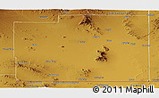 Physical Panoramic Map of Luna County