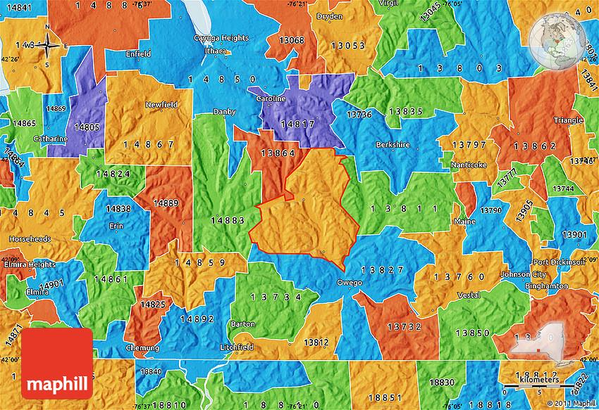 Political Map of ZIP Code 13743