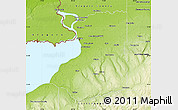 Physical Map of Erie County