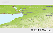 Physical Panoramic Map of Erie County
