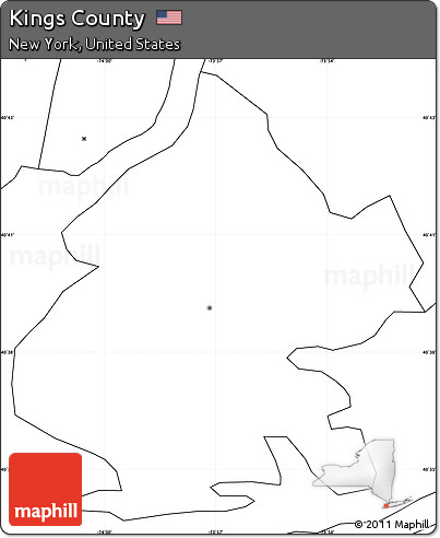 Free Blank Simple Map Of Kings County No Labels - Us map no labels