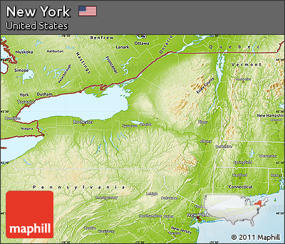 Free Physical Map Of New York