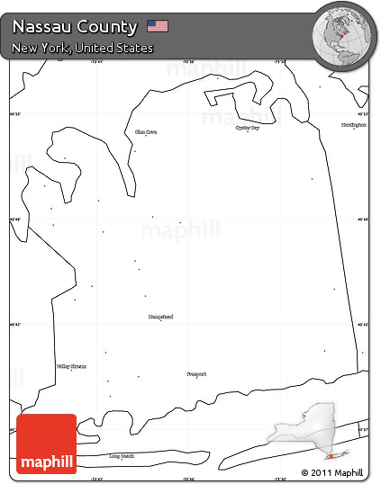 Free Blank Simple Map of Nassau County