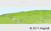 Physical Panoramic Map of Niagara County