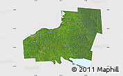 Satellite Map of Oswego County, cropped outside