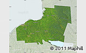 Satellite Map of Oswego County, lighten