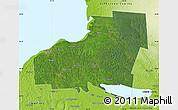Satellite Map of Oswego County, physical outside