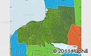 Satellite Map of Oswego County, political outside