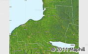 Satellite Map of Oswego County