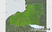 Satellite Map of Oswego County, semi-desaturated