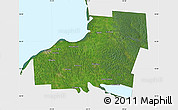 Satellite Map of Oswego County, single color outside