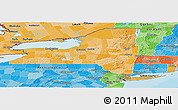 Political Shades Panoramic Map of New York