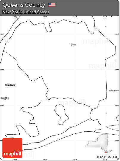 Free Blank Simple Map of Queens County